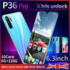 "6.3"" P36 Pro Android 9.1 6gb Smart Mobile Phone +128gb Face Id Unlocked 4800mah"