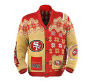 KLEW NFL Men's San Francisco 49ers Holiday Ugly Cardigan Sweater $49.99 USD on eBay