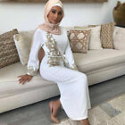 Fashion Women Flower Abaya Muslim Long Maxi Dress Dubai Islamic Gown Kaftan Robe