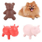 AM_ PETS DOG PUPPY RUBBER PIG BEAR CATTLE SHAPE BITE-RESISTANT MOLAR CHEW TOY SU