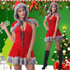 UK Ladies Santa XMAS Dress Outfit Women Claus Sets Christmas Party Sexy Costumes