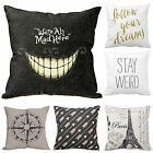 Simple Pattern Pillow Case Cotton Linen Sofa Throw Cushion Cover Home Decoration image