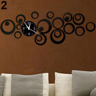 Removable Modern Round Mirror Style Wall Sticker Clock Decal Art Home Decor