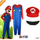 Kids Boy Super Mario Luigi Brother Jumpsuit Cosplay Costume Suit Carnival Party☆