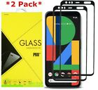 2-Pack For Google Pixel 4 / 4 XL Full Glue Cover Tempered Glass Screen Protector