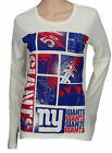 Reebok New York Giants NFL Football Womens Long Sleeve Football Shirt, Cream $14.95 USD on eBay