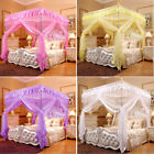 Princess Bed Canopy Mosquito Net Or Bed Frame Post Twin Full Queen King Size image
