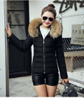 Winter Women Plus Size Jackets Warm Fur Collar Hooded Cotton Padded Coats Vests