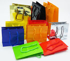 25 Paper Gift Bag Sturdy Colorful Solid Glossy Color Party Candy Craft many size
