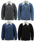 Kyпить Men's Classic Button Up Sherpa Fleece Lined Cotton Denim Trucker Jean Jacket на еВаy.соm