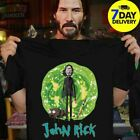 Awesome John Rick John Wick Rick And Morty Crossover T Shirt