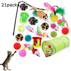Bulk Buy Cat Kitten Toys Rod Fur Mice Bells Balls Catnip 21/12 Pcs Pet Toys