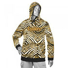 Zubaz NFL Football Men's Pittsburgh Steelers Zebra Print Touchdown Hoodie $39.99 USD on eBay