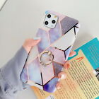 For iPhone 11 Pro Max XS XR X 7 8 6 Marble Ring Stand IMD Soft Rubber Case Cover