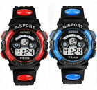 HOT Waterproof Children Boys Digital LED Sports Watch Kids Alarm Date Watch Gift image