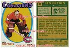"""KEN DRYDEN 1971 Montreal Canadiens = POSTER Not Hockey Card 8 SIZES 18"""" - 36"""" $24.85 USD on eBay"""