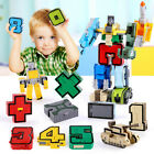 DIY 10/15Pcs Numbers Set Team Transform Robot Puzzle Teaching Toy Kids Xmas Gift For Sale