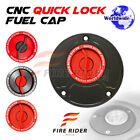 FRW Red CNC Quick Lock Fuel Cap x1 For Ducati SuperSport 750 / 800 / 900 All Ye