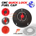 FRW Red CNC Quick Lock Fuel Cap x1 For Ducati 998 All Year 96 97 98 99 00 01 02