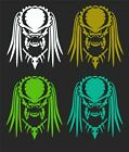 PREDATOR CAR WINDOW DECAL...2 FOR 1 PRICE..PICK YOUR SIZE & COLOR