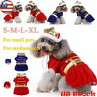 Cute Pet Dog Halloween Christmas Puppy Clothes King Cosplay Dress Costume S-XL