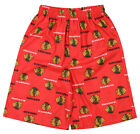 OuterStuff NHL Boys Youth Chicago Blackhawks All-Over Printed Pajama Shorts, Red $12.99 USD on eBay