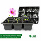9 Cell Bedding Plant Pack Tray Inserts for Half Size Seed Propagator Trays