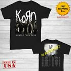 Korn t Shirt joint tour dates 2020 T-Shirt Size Men Black Gildan 2 side M-2XL image