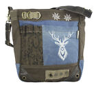 53097 Domelo Canvas Schultertasche Jeans Crossbody Upcycling Tracht