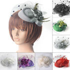 Women Retro Flower Fascinator Hat Cocktail Headband Hair Clip Wedding Gift