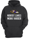 Baltimore Ravens NFL Lamar Jackson Nobody Cares Work Harder Hoodie Shirt