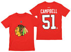 Reebok NHL Youth Chicago Blackhawks Brian Campbell #51 Short Sleeve Tee, Red $12.99 USD on eBay