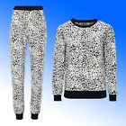 AVON Ladies Animal Leopard Fleece Pyjamas PJ Lounge Wear Plus Size 18-24 rrp £30