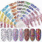 AB Color 3D Nail Rhinestones Flat Bottom Glitter Crystal Gems Nail Art Decors