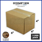 1-200 6x4x4 'EcoSwift' Cardboard Packing Mailing Shipping Corrugated Box Cartons