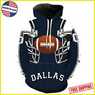HOODIE 3D Dallas Cowboys NFL Football Team Solid Color Pullover 3D Printed USA $48.99 USD on eBay