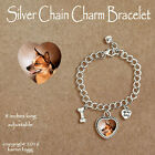 AUSTRALIAN CATTLE DOG Red - CHARM BRACELET SILVER CHAIN & HEART