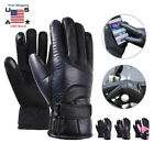 Rechargeable USB Electric Warm Heated Gloves Motorcycle Hunting Winter Warmer