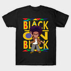 The Boondocks Huey Freeman Black On Black Funny Black T-Shirt S-6XL