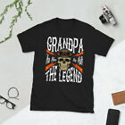 Grandpa The Man The Myth The Legend Tshirt - Gift for Bikers - Biker Dad T Shirt