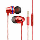 Top Holiday Gifts 3.5mm HIFI Super Bass Headset In-Ear Earphone Stereo Earbuds Headphone Wired Mic