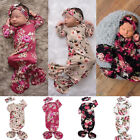 Kyпить Infant Baby Girl Flower Swaddle Wrap Blanket Long Sleeve Sleeping Bag+Headband на еВаy.соm
