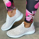 Women Sequin Sneakers Trainers Sparkle Breathable Slip On Running Shoes Size 4-7