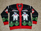 Ghostbusters Holiday Christmas Ugly Sweater Mens Women Cardigan NEW sizes L & XL