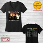 Motley Crue t Shirt Women V-neck The Stadium Tour 2020 T-Shirt Size Black image