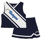 Outerstuff NFL Little Girls Los Angeles Chargers Cheerleader Two Piece Set $12.99 USD on eBay
