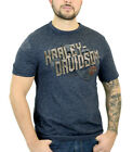 Harley-Davidson Mens Rough Edges Navy Short Sleeve T-Shirt Twisted Stripe $12.99 USD on eBay