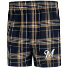 Concepts Sport Milwaukee Brewers Navy/Gold Hillstone Flannel Boxers on Ebay