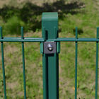 Home Deluxe post Double Rod Matt Fence Galvanised Green Height Selectable