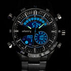 INFANTRY LCD Mens Digital Quartz Wrist Watches Chronograph Sport Stainless Steel image